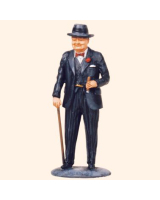 T54 557 Sir Winston Churchill with walking stick Painted