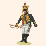 T54 602 Trumpeter 10th Hussars 1812-1815 Painted