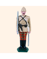 0053 1 Toy Soldier Officer at attention British Army 1879-1900 Kit