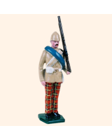 0053 3 Toy Soldier Private at attention British Army 1879-1900 Kit