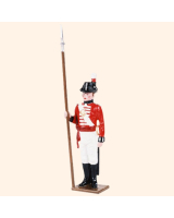 0075 2 Toy Soldier Sergeant at attention Kit