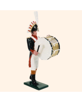 0089 05 Toy Soldier Bandsman with Bass Drum Kit