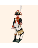 0089 08 Toy Soldier Bandsman with Side Drum Kit