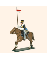 0115 1 Toy Soldier Trooper lance up, lean forward, Horse leg stretched out Kit