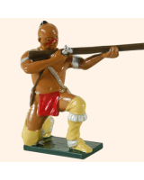 0609 3 Toy Soldier Warrior kneeling firing British Allies Kit