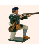 0611 6 Toy Soldier Private kneeling Rogers Rangers Kit