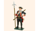 618 2 Toy Soldier Sergeant with linstock Royal Artillery 1750 Kit