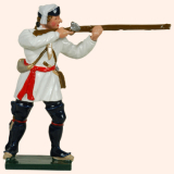 620 2 Toy Soldier Private Standing Firing Compagnies Franches de la Marines Kit