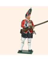 0651 4 Toy Soldier Grenadier loading musket Kit
