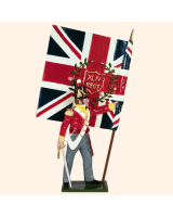 0706 3 Toy Soldier Ensign with Kings Colour Kit