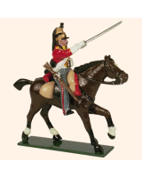 0732 1 Toy Soldier Trooper, Horse leg stretched out Kit