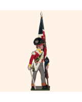 0737 2 Toy Soldier Ensign with Kings Colour Kit