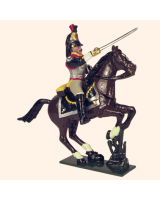 740 1 Toy Soldier Officer, Horse leg on grass Kit