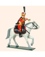 0754 3 Toy Soldier Trumpeter 4th Reg  French Hussars Kit