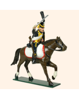 0755 1 Toy Soldier Trooper, lean forward, Horse leg stretched out Kit