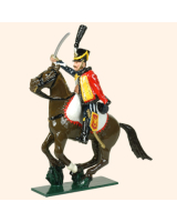 0755 2 Toy Soldier Trooper, sitting up, Horse leg together Kit