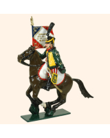 0756 2 Toy Soldier Eagle Bearer Officer 7th Hussars Kit