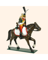 0757 1 Toy Soldier Trooper, lean forward, Horse leg stretched out Kit