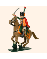 0759 1 Toy Soldier Trooper, sitting up, Horse leg together Kit