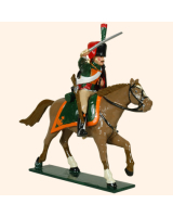0759 2 Toy Soldier Trooper, lean forward, Horse leg stretched out Kit