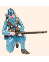0801 6 Toy Soldier Private kneeling loading Kit