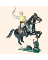 0916 1 Toy Soldier Officer Mounted Confederate Army Kit