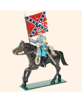 0916 2 Toy Soldier Colour Bearer Mounted Confederate Army Kit