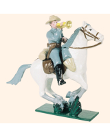 0916 3 Toy Soldier Bugler Mounted Confederate Army Kit