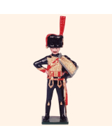 N2-3 Toy Soldier Drummer at attention French Foot Artillery 1810 Kit