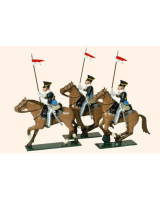 115 Toy Soldiers Set 17th Lancers Painted