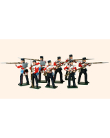 103 British Infantry Toy Soldiers Set Painted