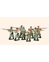104 Toy Soldiers Set Russian Infantry Painted
