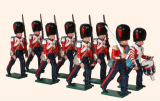 111 Toy Soldiers Set Coldstream Guards Marching Painted