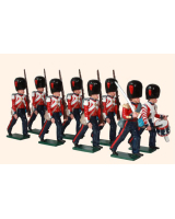111 Coldstream Guards Marching Toy Soldiers Set Painted