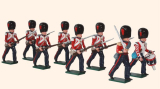 112 Toy Soldiers Set Coldstream Guards Advancing Painted
