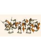 404 Toy Soldiers Set Zulus Unmarried Regiments Painted