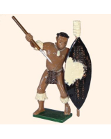 547 Toy Soldier Set Zulu Warrior Painted
