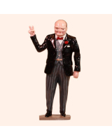 0564 Toy Soldier Set Sir Winston Churchill with V sign Painted