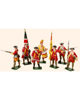 601 Toy Soldiers Set British Infantry Painted