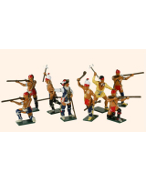 610 Toy Soldiers Set American Woodland Indians Painted