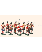 615 Toy Soldiers Set Grenadier Company 42nd Highland Regiment of Foot Painted