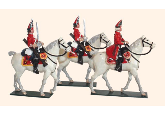 656 Toy Soldiers Set The Scots Grey's British Cavalry Painted