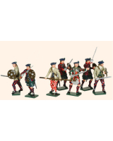 681 Toy Soldiers Set The Jacobite Rebellion 1745 Painted