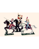 0701 Toy Soldiers Set Polish Lancers Painted