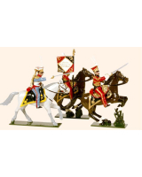 703 Toy Soldiers Set Dutch Lancers Painted