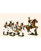 0715 Toy Soldiers Set French Line Infantry Marching Painted