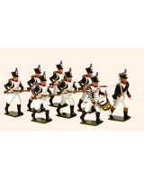 0718 Toy Soldiers Set French Line Infantry Fusiliers advancing Painted