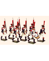 0722 Toy Soldiers Set French Line Grenadiers Infantry Painted