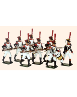 0723 Toy Soldiers Set French Line Infantry Grenadiers Painted