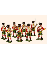 738 Toy Soldiers Set 92nd Gordon Highlanders Painted
